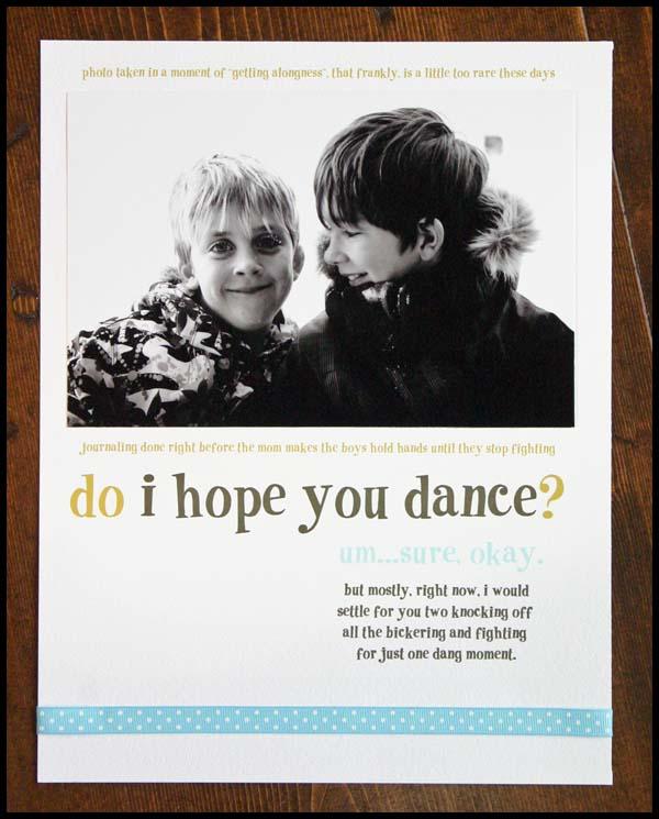 Do i hope you dance