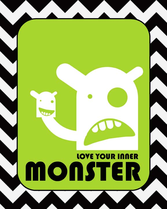 Love your inner monster green small