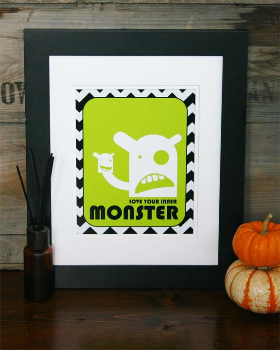 Love your inner monster framed