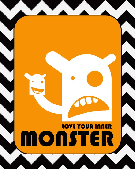 Love your inner monster orange small