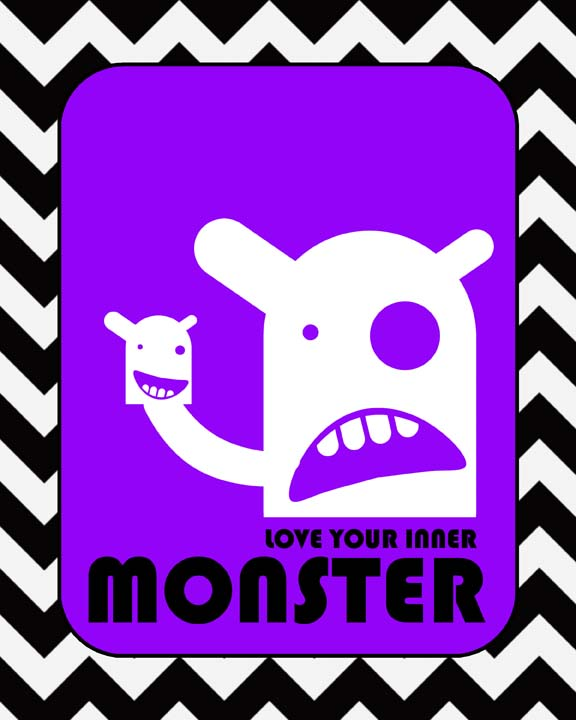 Love your inner monster purple small