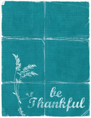 Be thankful teal tattered copy